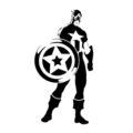 Captain America Stencil
