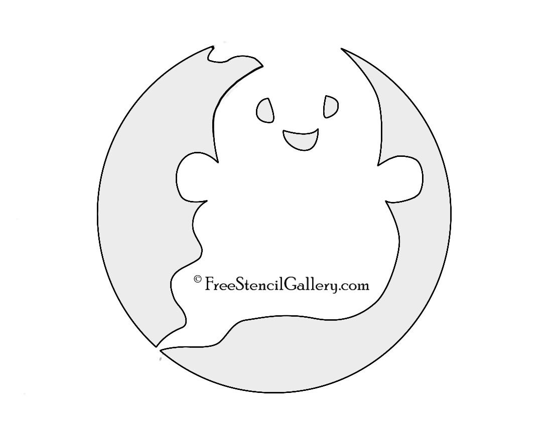 Cute Ghost Stencil