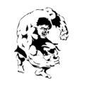 Hulk Stencil