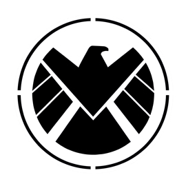SHIELD Logo Stencil