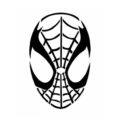 Spiderman Mask Stencil