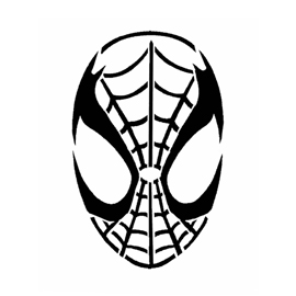 Spiderman Mask Stencil Free Stencil Gallery