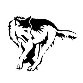 Wolf Stencil 03