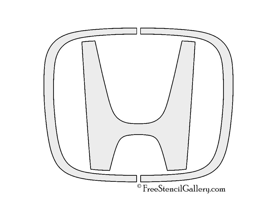 Honda Logo Stencil