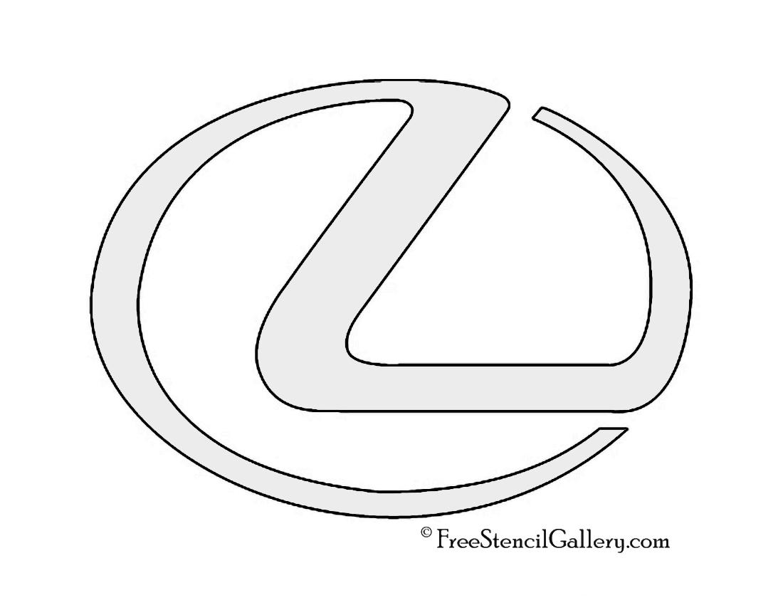 Lexus Logo Stencil