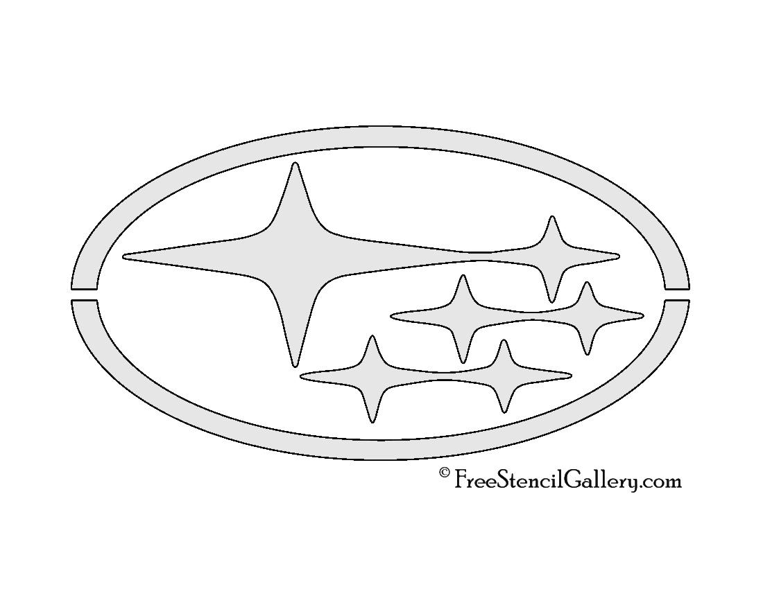Subaru Logo Stencil