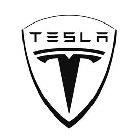 Tesla Motors Logo Stencil