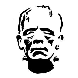 Frankenstein Stencil 02