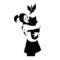 Banksy-Bomb Hugger Stencil