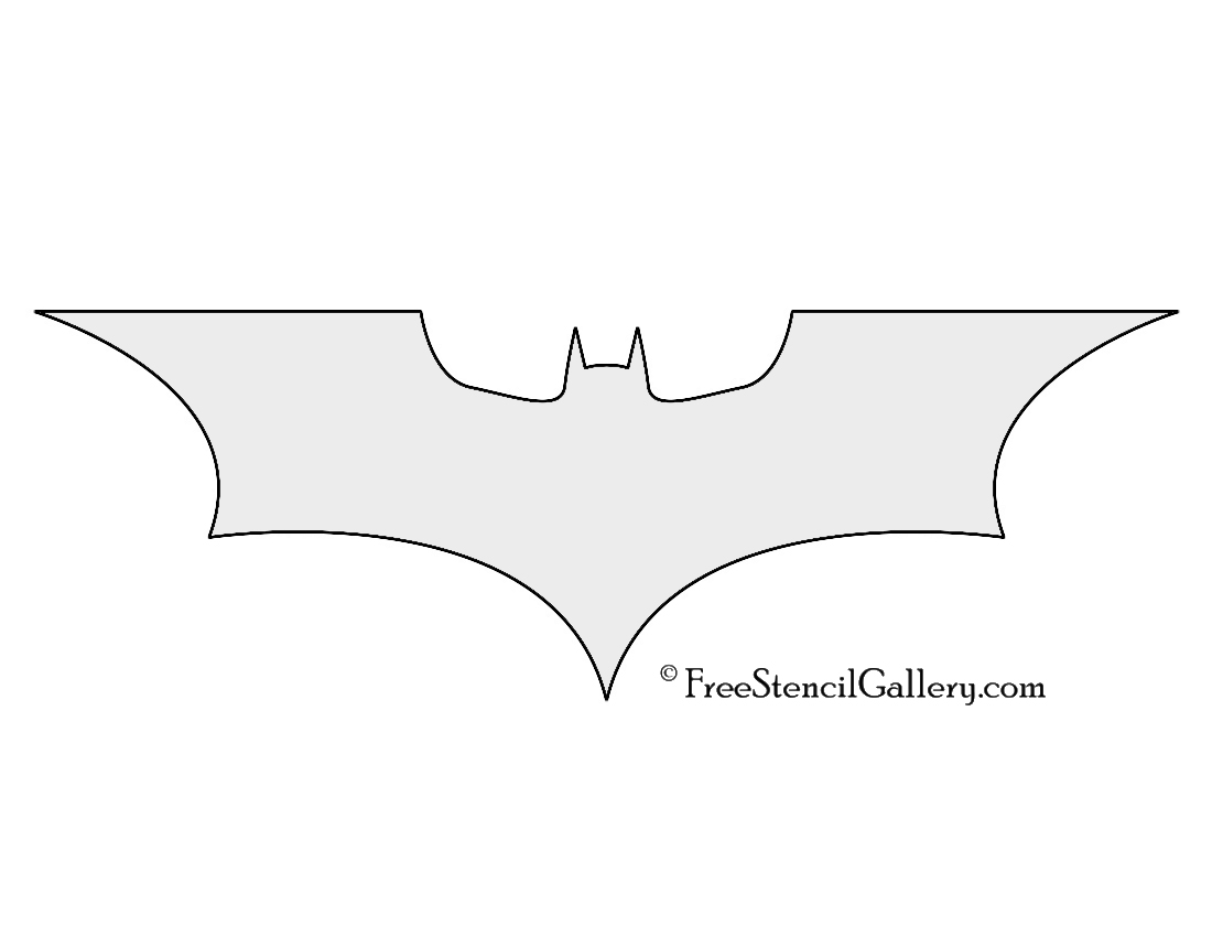 Batman Symbol Stencil | Free Stencil Gallery