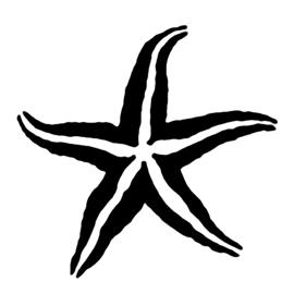 Starfish Stencil 02