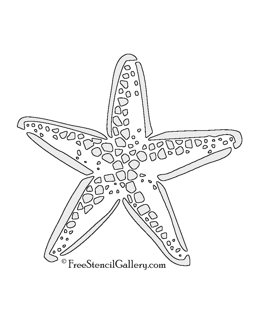 It's just a graphic of Printable Star Fish with ocean