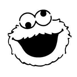 Cookie Monster Stencil