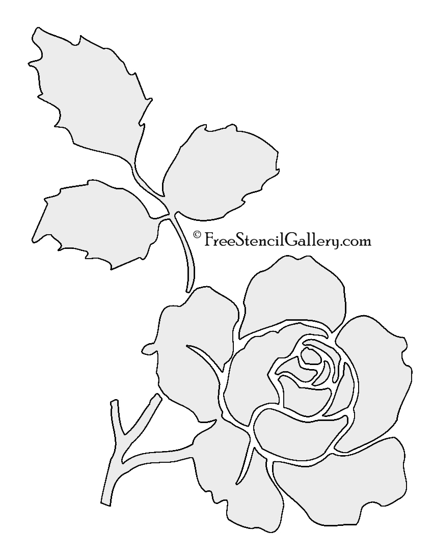 Flower And Plant Stencils Free - Flowers Healthy