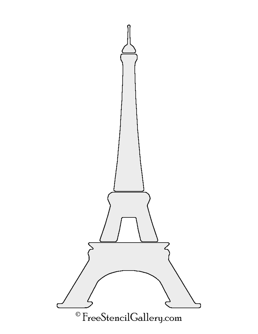 image relating to Printable Pictures of the Eiffel Tower referred to as Eiffel Tower Stencil No cost Stencil Gallery