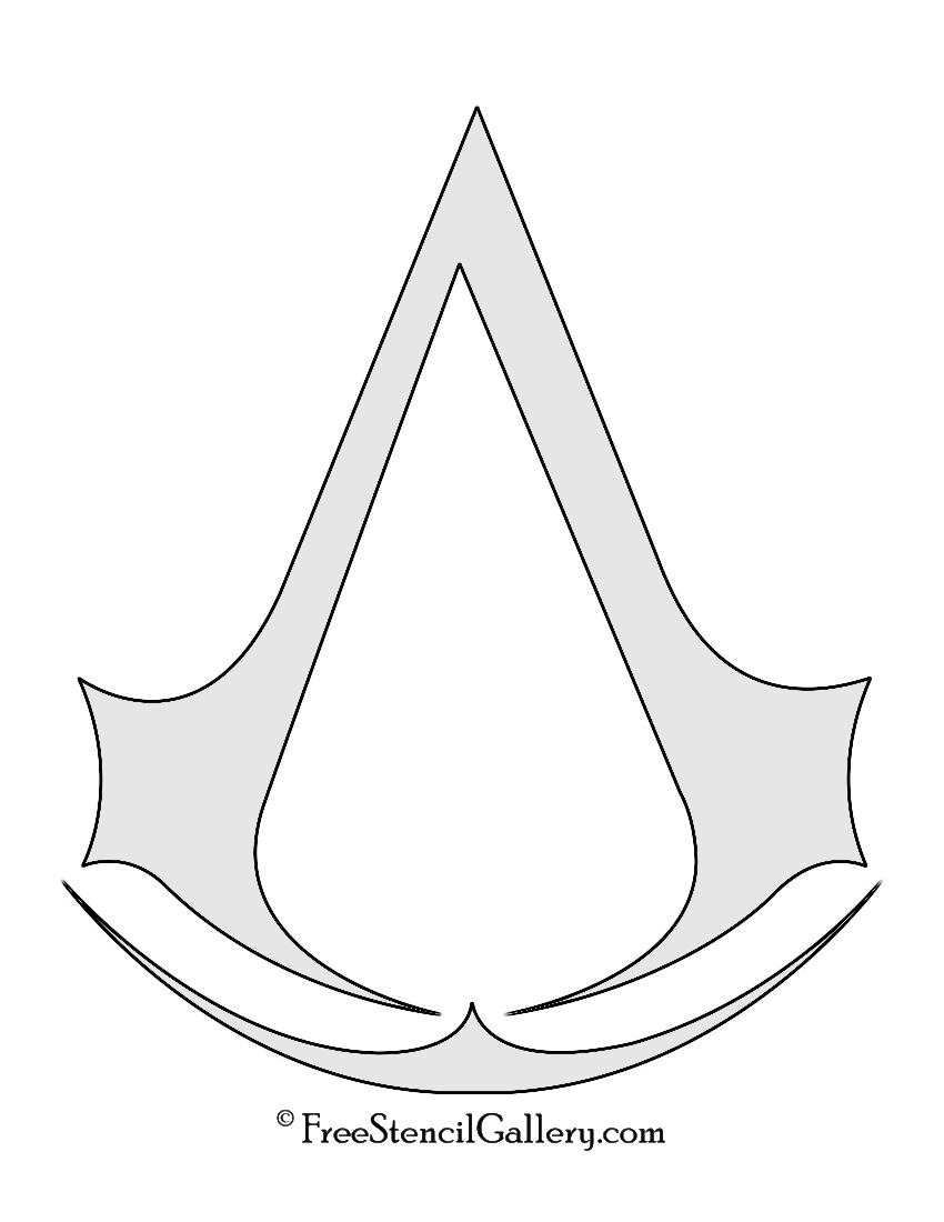 Assassin S Creed Symbol Stencil Free Stencil Gallery