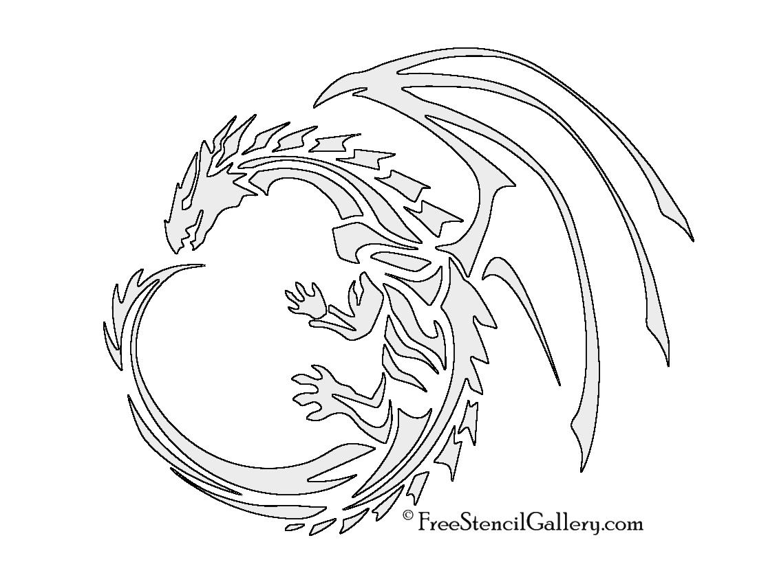 image regarding Game of Thrones Stencil Printable called Dragon Stencil No cost Stencil Gallery