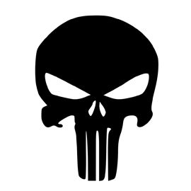 Punisher Skull Symbol Stencil