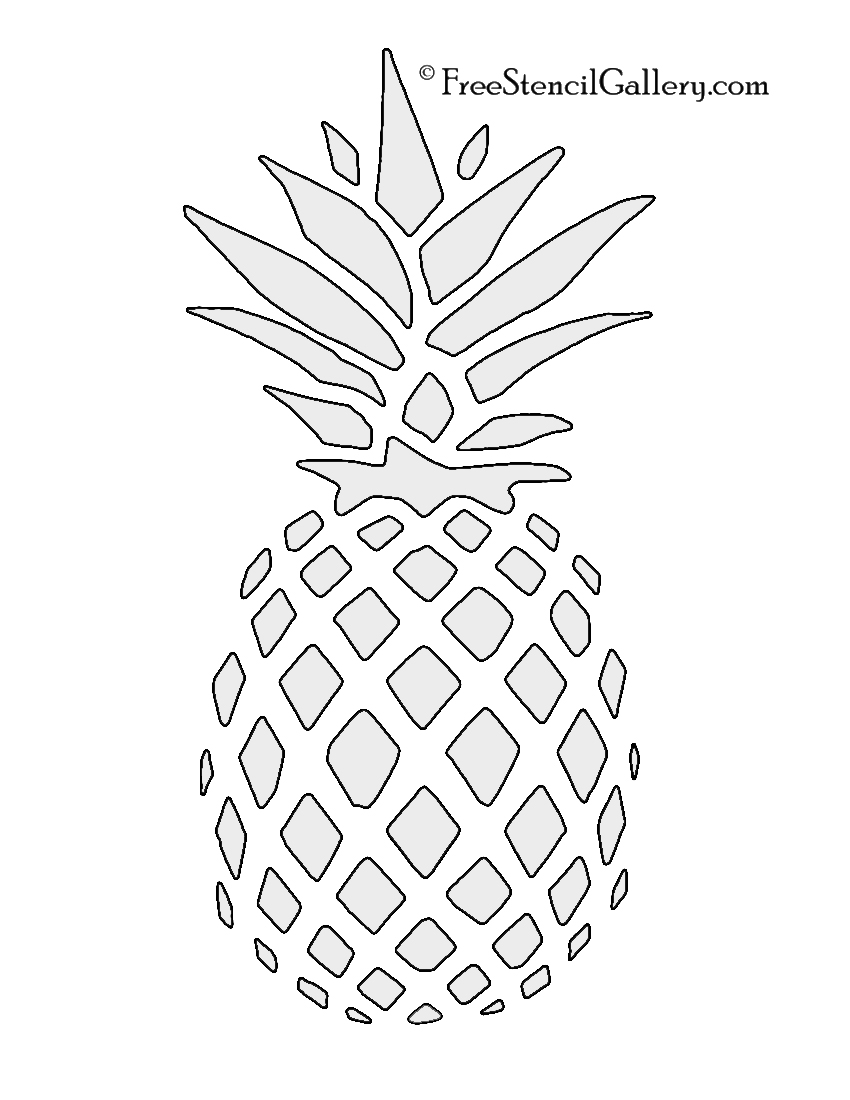 photo about Free Printable Pineapple identified as Pineapple Stencil Cost-free Stencil Gallery