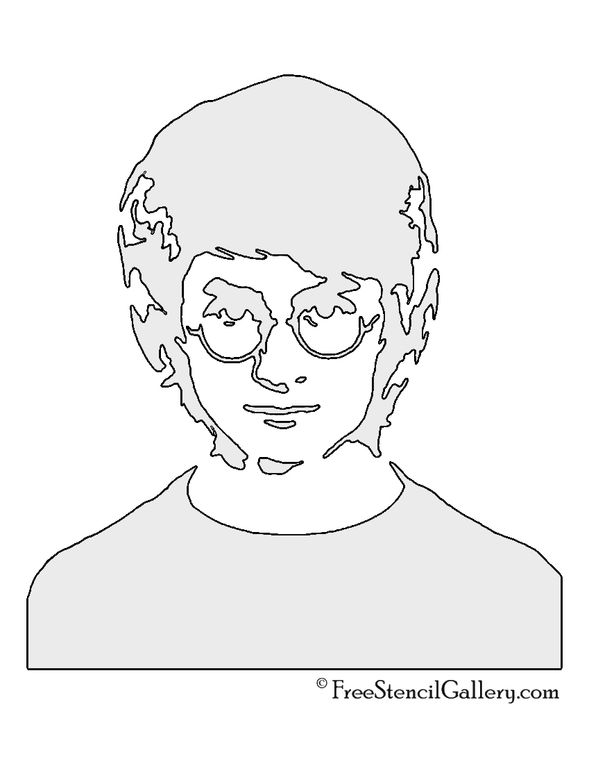 graphic relating to Harry Potter Stencils Printable named Harry Potter Stencil Absolutely free Stencil Gallery