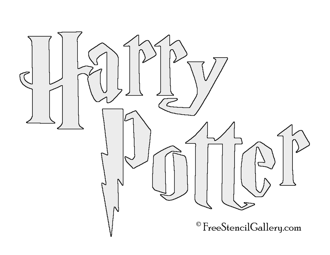 Harry potter title stencil free stencil gallery for Harry potter pumpkin carving templates