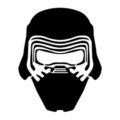 Kylo Ren Mask Stencil