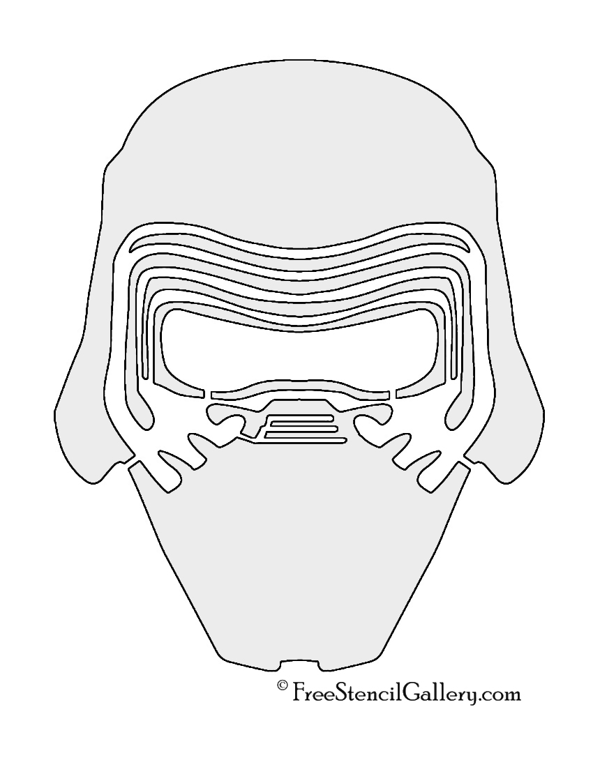 kylo ren mask stencil  free stencil gallery