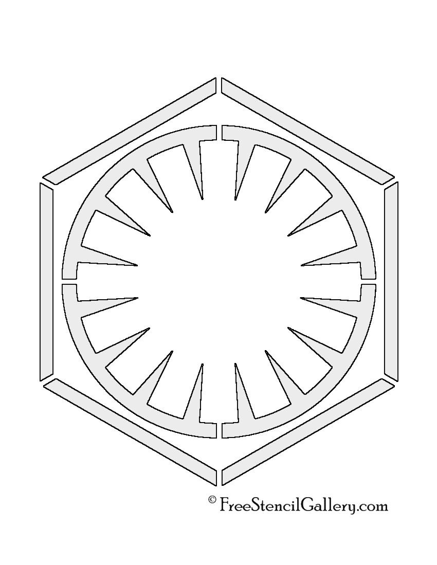 Star Wars First Order Symbol Stencil