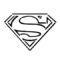 Superman Symbol Stencil
