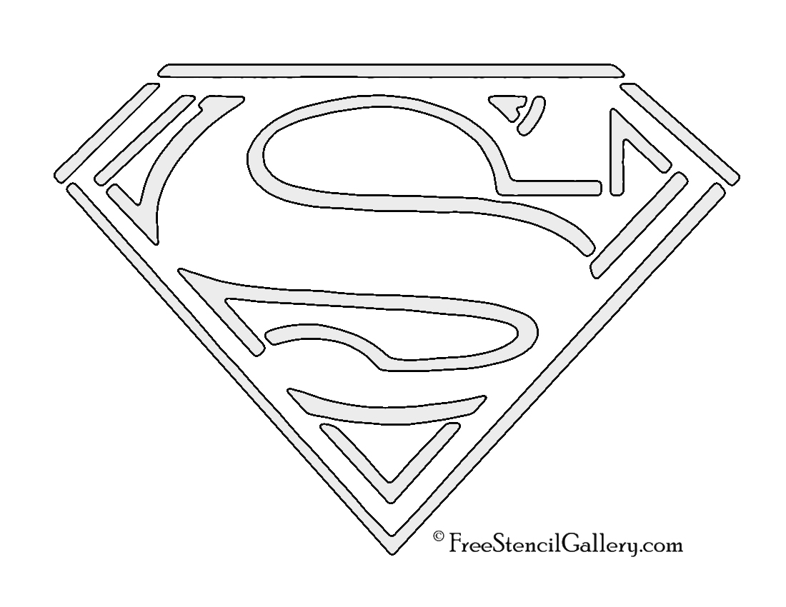 photo relating to Superman Pumpkin Stencil Printable named Superman Emblem Stencil Cost-free Stencil Gallery