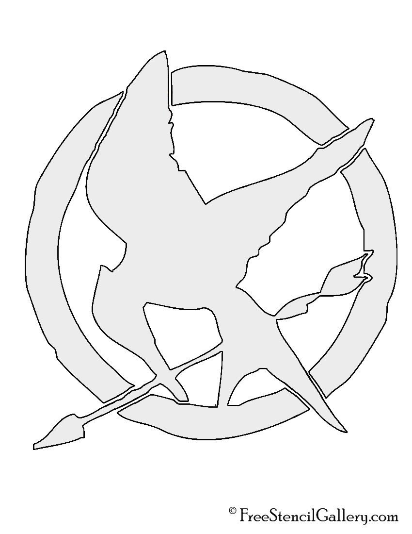 Hunger Games Symbol Stencil Free Stencil Gallery