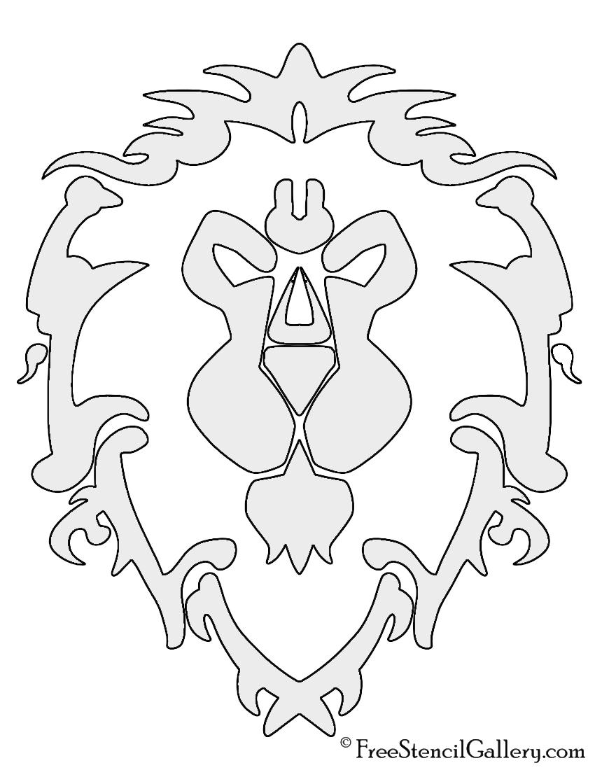 Warcraft Alliance Symbol Stencil