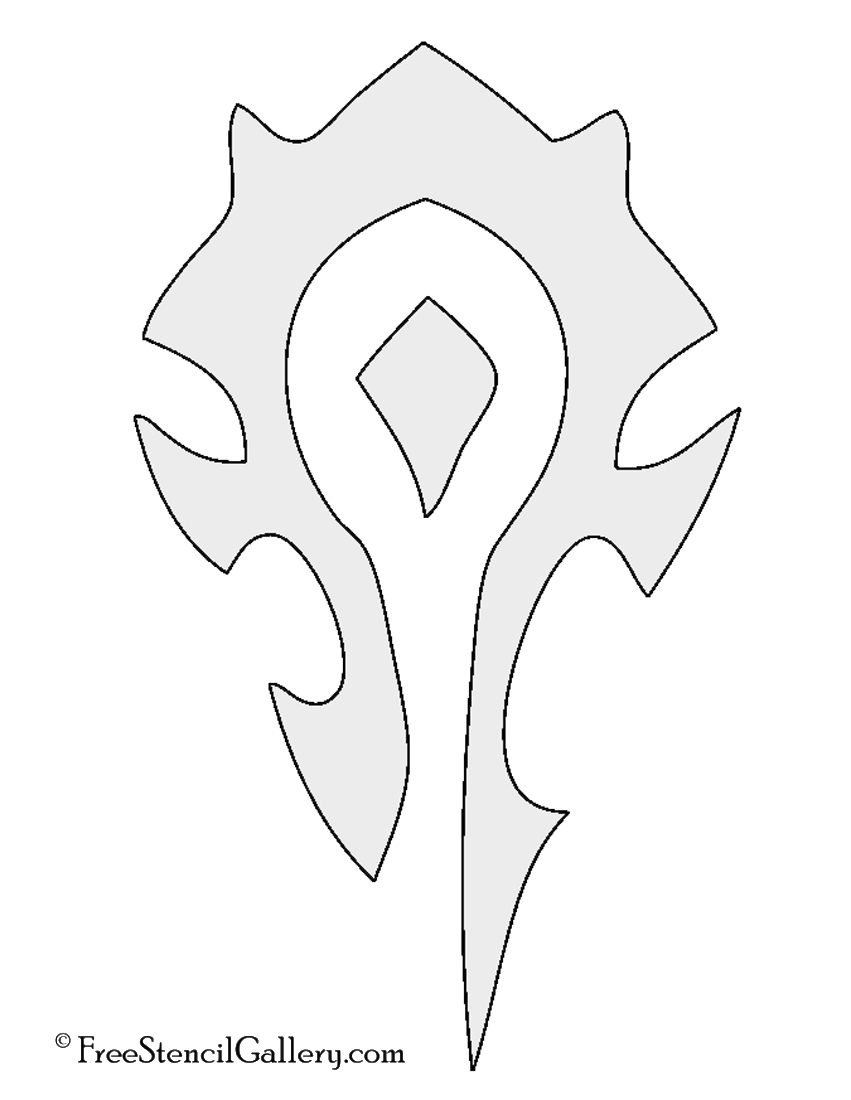 Warcraft Horde Symbol Stencil