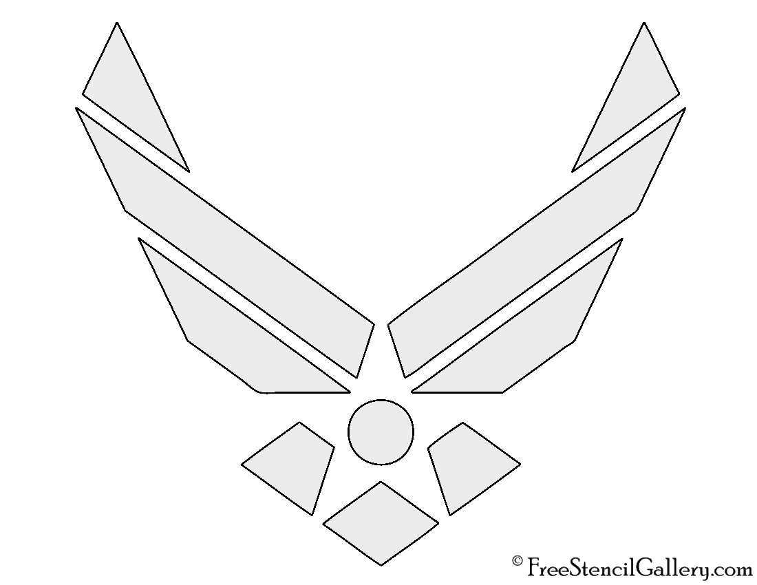 Air Force Logo Stencil | Free Stencil Gallery