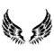 Angel Wings Stencil