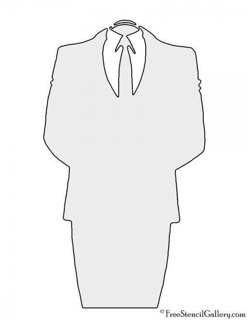 Anonymous Headless Suit Stencil
