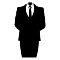 Anonymous Headless Suit Stencil