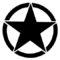 Army Star Logo Stencil