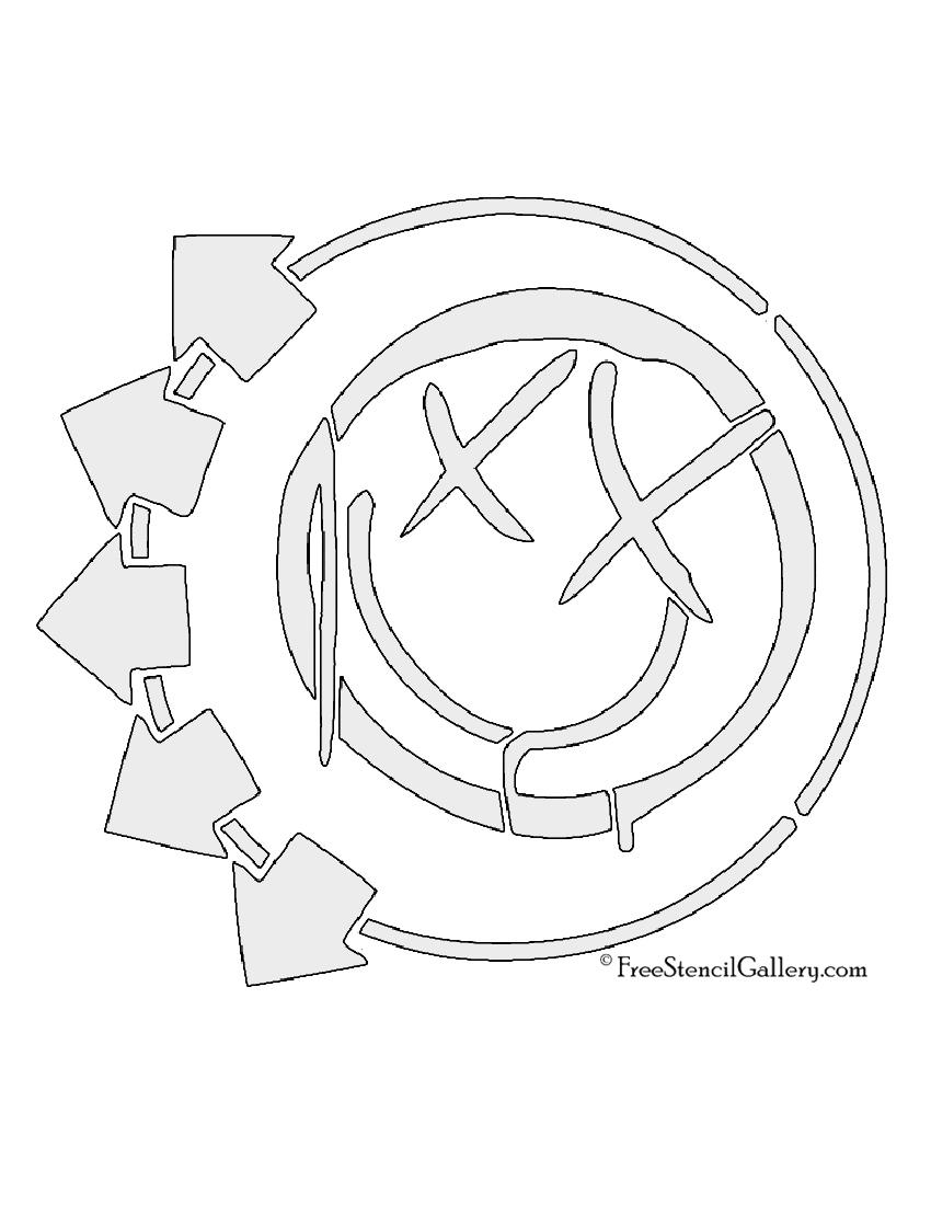 Blink-182 Smiley Logo Stencil
