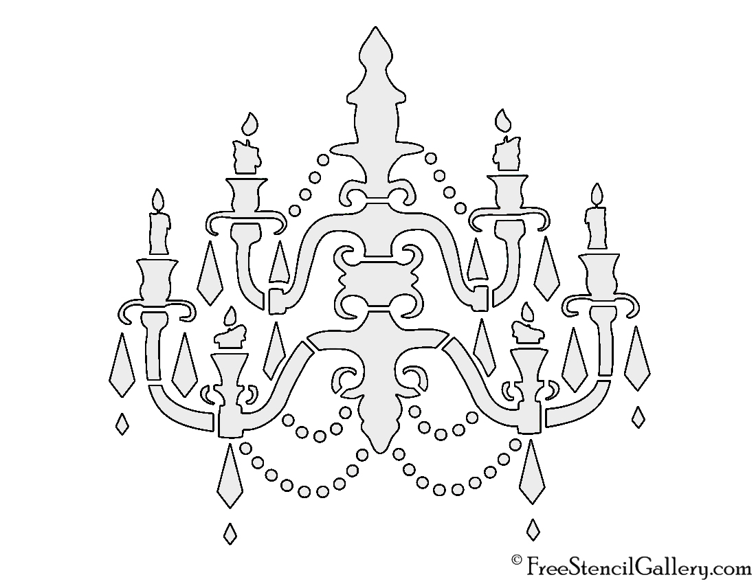 Chandelier stencil free stencil gallery chandelier stencil aloadofball Image collections