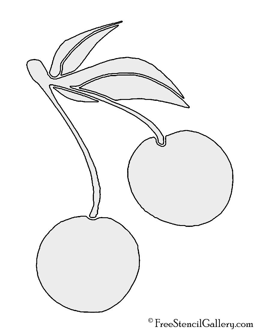 Cherry Stencil