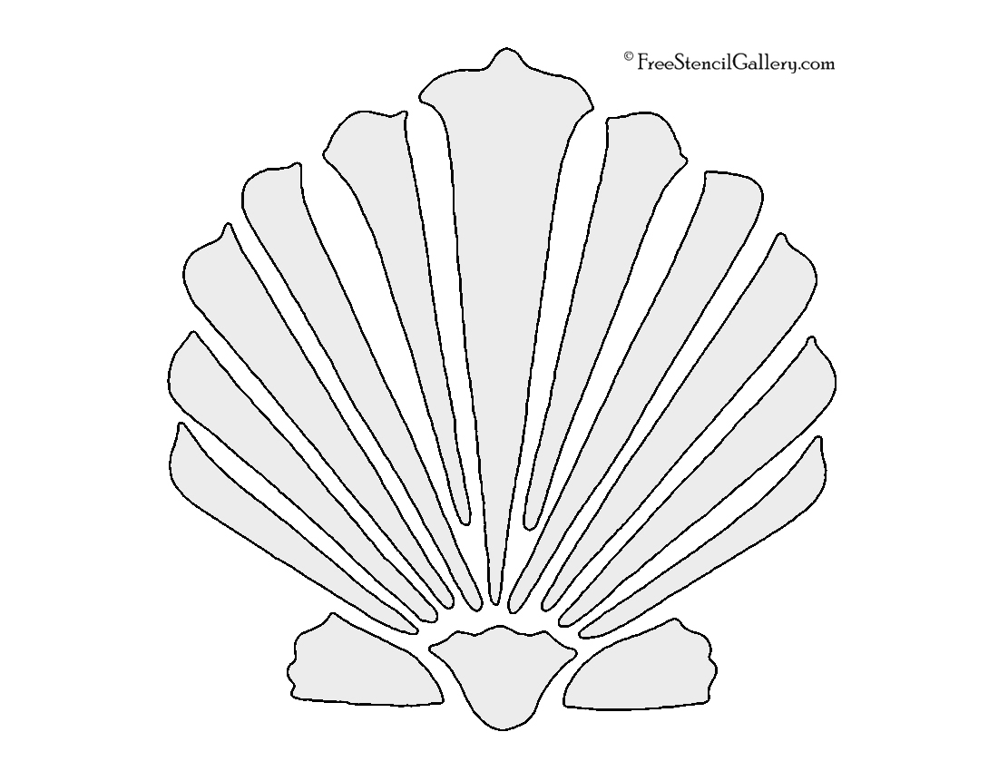 It's just a graphic of Massif Free Printable Seashell Stencils