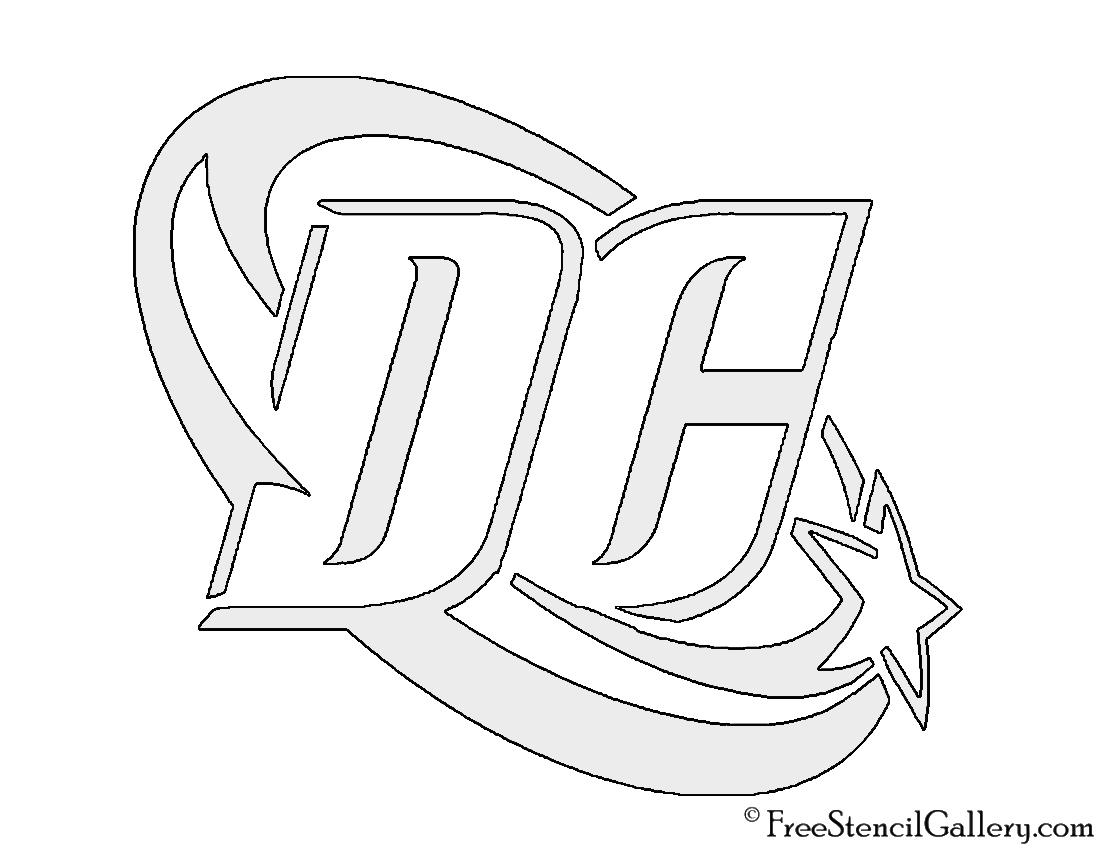 Dc comics logo stencil free gallery