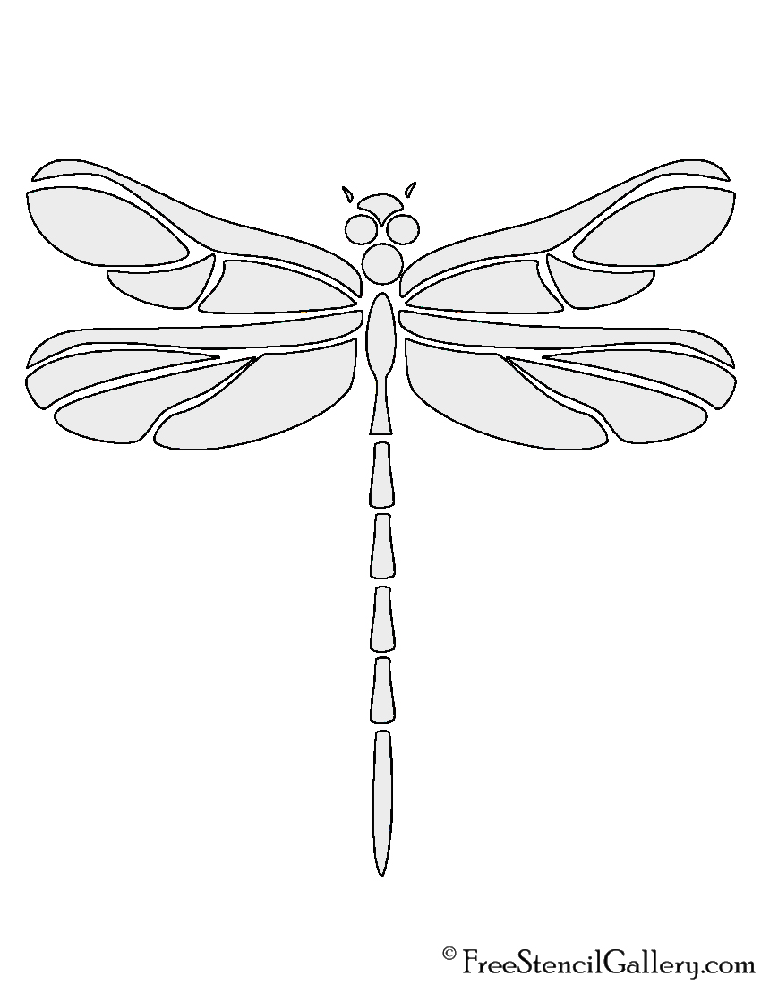 photo about Dragonfly Printable referred to as Dragonfly Stencil Totally free Stencil Gallery