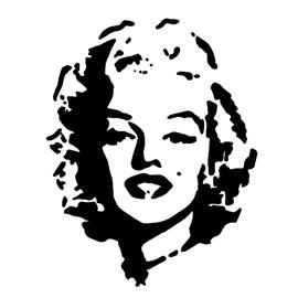 Marilyn Monroe 01 Stencil
