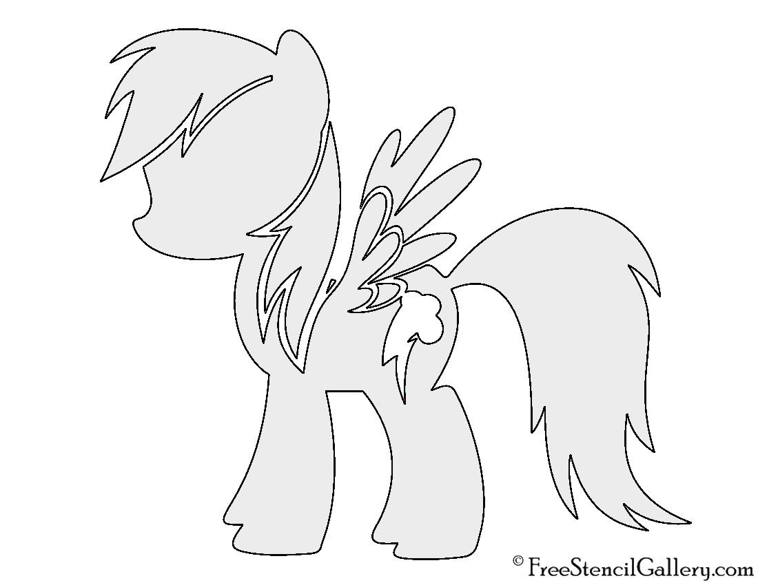 My Little Pony Rainbow Dash Stencil