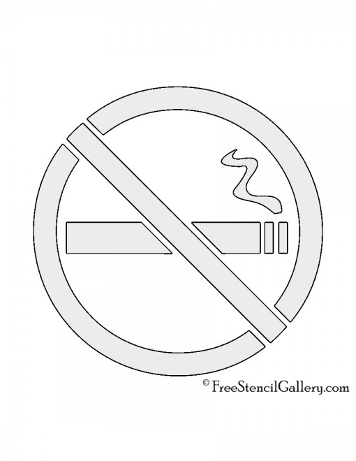 No Smoking Sign Stencil