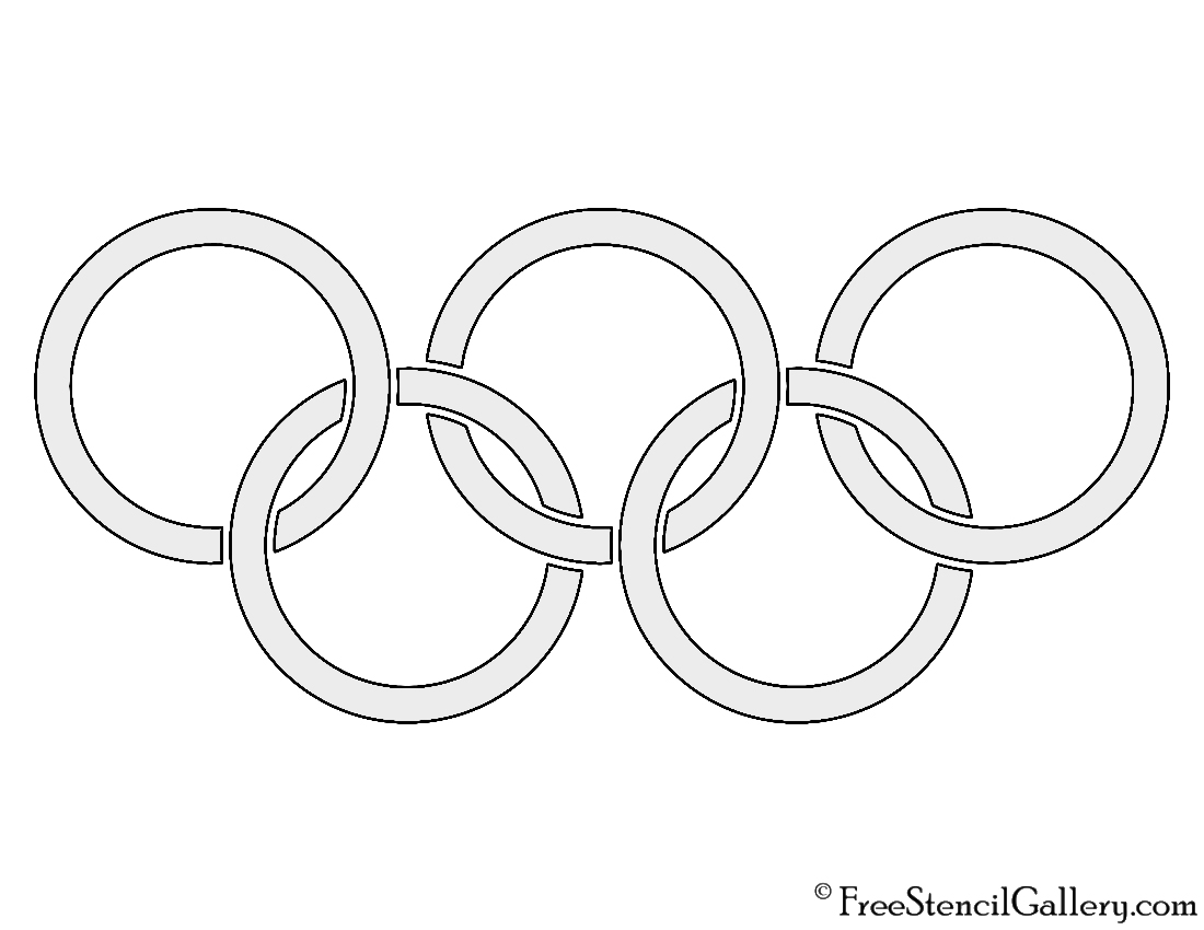 Olympic Rings Stencil Free Stencil