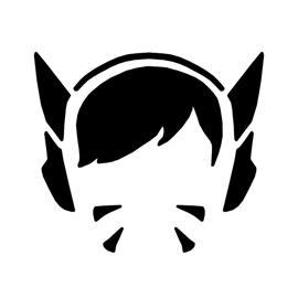 Overwatch – D Va Stencil
