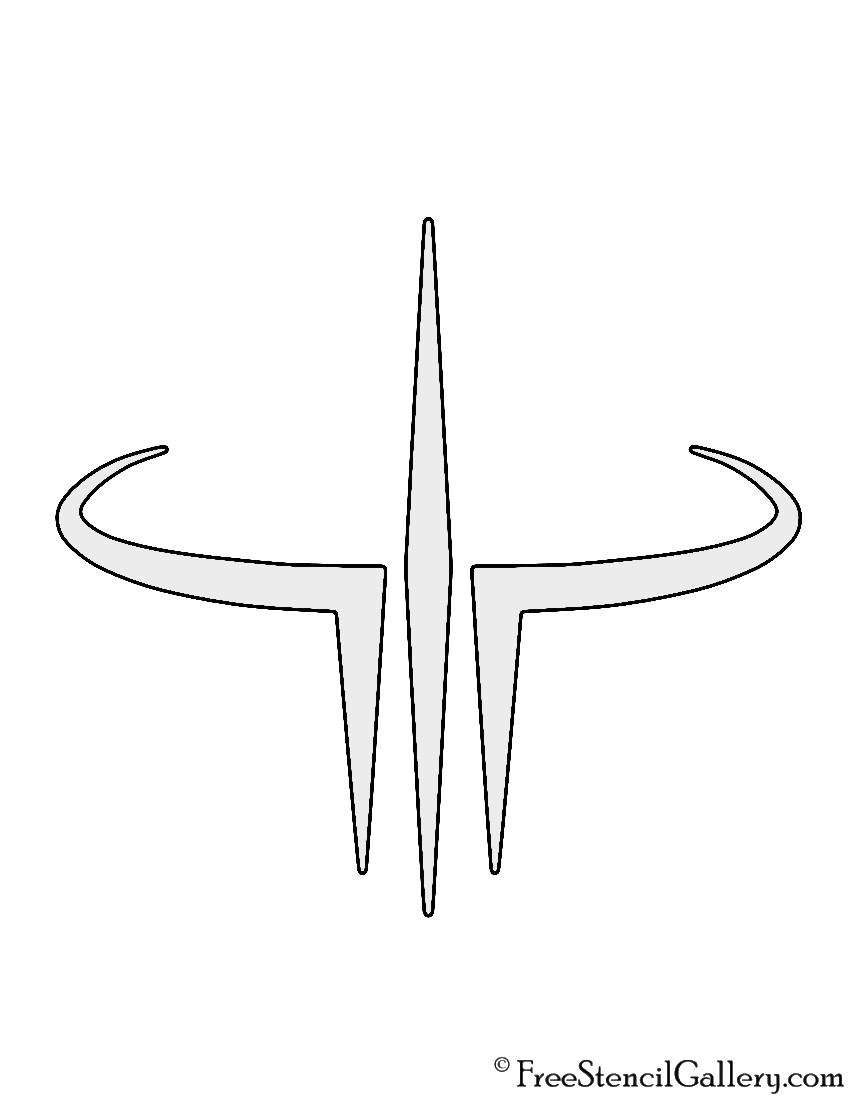 Quake 3 Logo Stencil
